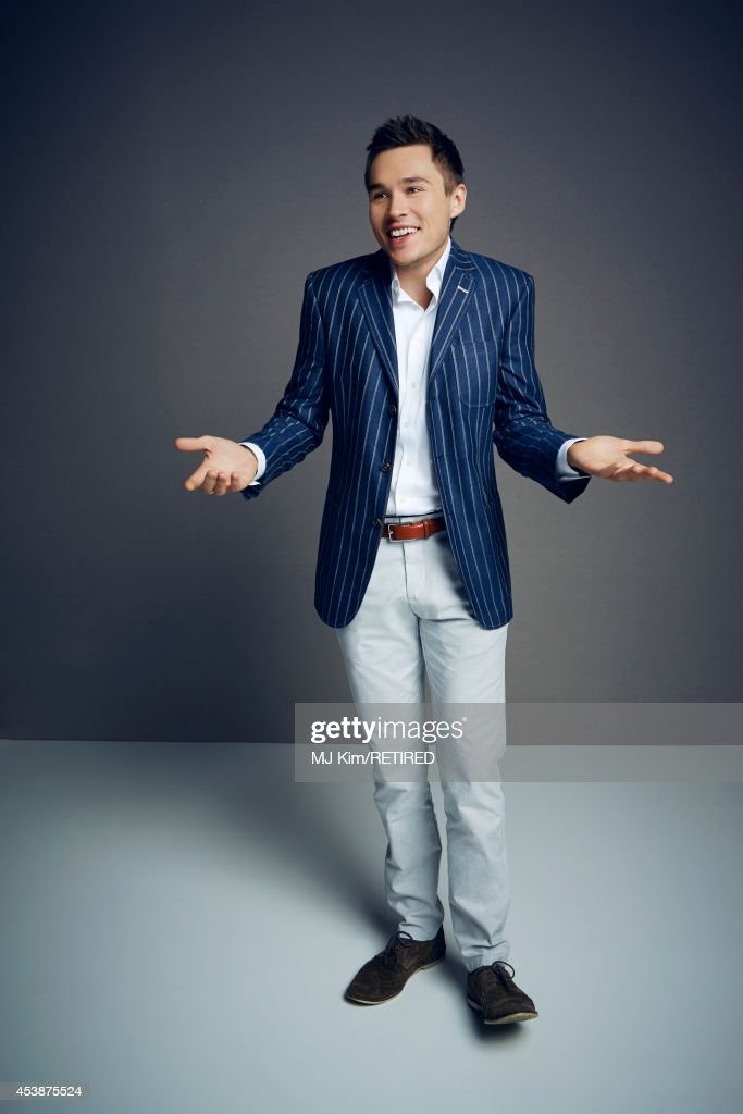 Sam Underwood poses for a portrait at the Getty Images Portrait Studio powered by Samsung Galaxy at Comic-Con International 2014 on July 24, 2014 in San Diego, California.