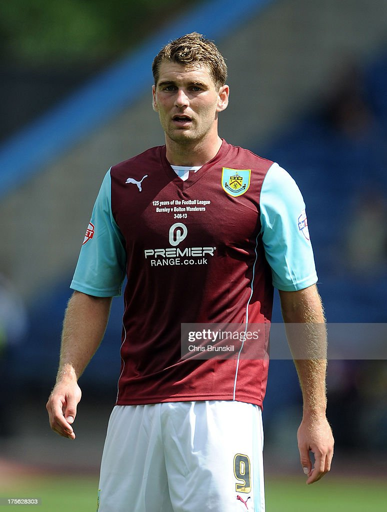 Sam Vokes of Burnley looks on during the Sky Bet Championship match between Burnley and Bolton Wanderers at Turf Moor on August 03, 2013 in Burnley, England.