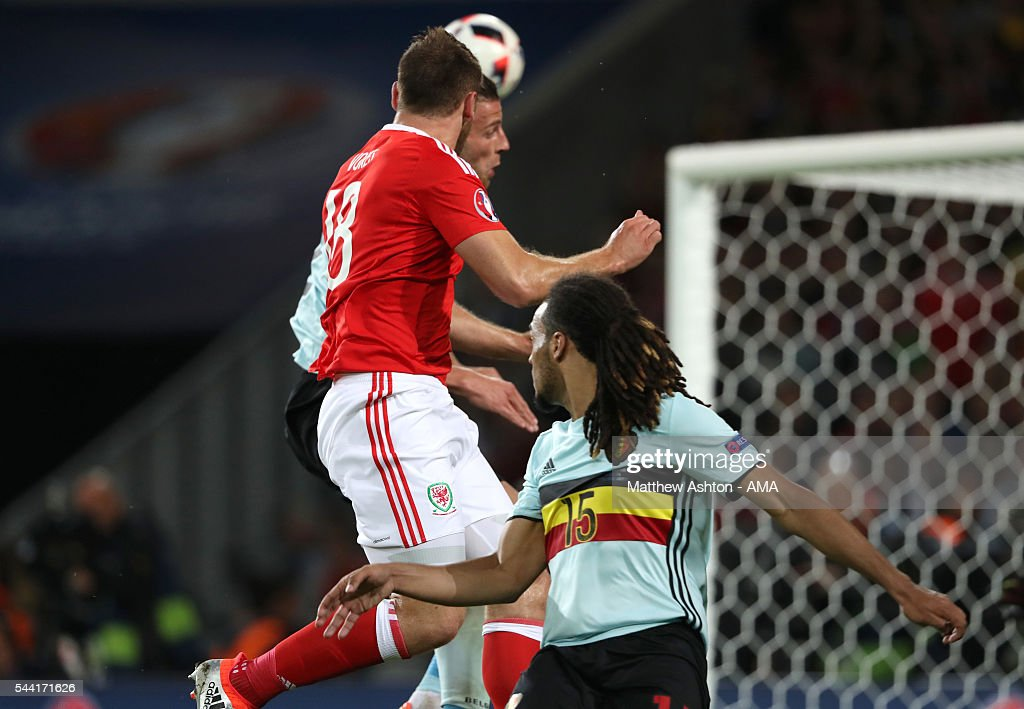 <a gi-track='captionPersonalityLinkClicked' href=/galleries/search?phrase=Sam+Vokes&family=editorial&specificpeople=4778614 ng-click='$event.stopPropagation()'>Sam Vokes</a> of Wales scores a goal to make it 3-1 during the UEFA Euro 2016 quarter final match between Wales and Belgium at Stade Pierre-Mauroy on July 1, 2016 in Lille, France.