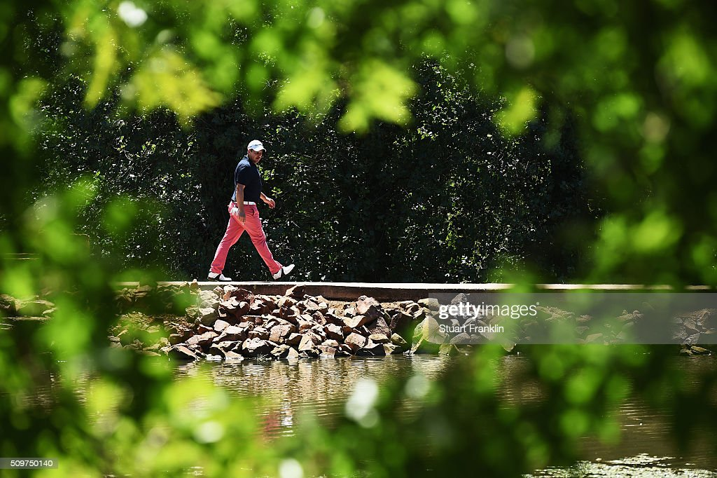 <a gi-track='captionPersonalityLinkClicked' href=/galleries/search?phrase=Sam+Walker+-+Golfer&family=editorial&specificpeople=565962 ng-click='$event.stopPropagation()'>Sam Walker</a> of England walks over a bridge during the second round of the Tshwane Open at Pretoria Country Club on February 12, 2016 in Pretoria, South Africa.