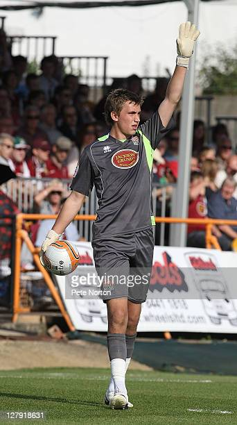 Sam Walker of Northampton Town in action during the npower League Two match between Barnet and Northampton Town at Underhill Stadium on October 1...