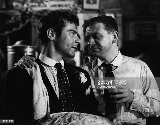 Sam Wanamaker and Sidney James star in the Plantagenet film 'Give Us This Day' directed by Edward Dmytryk