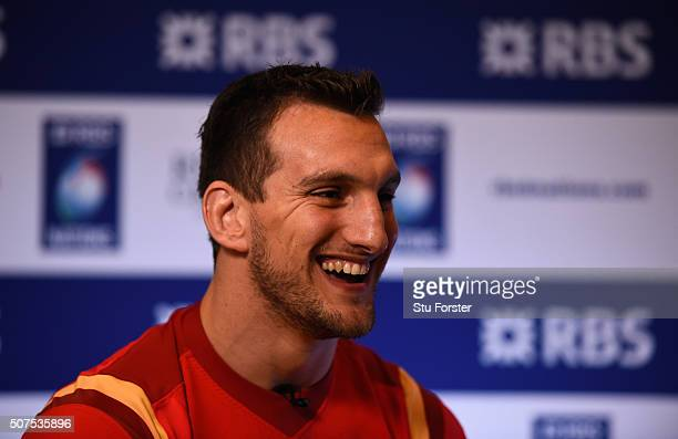 Sam Warburton captain of Wales faces the press during the RBS Six Nations launch at The Hurlingham Club on January 27 2016 in London