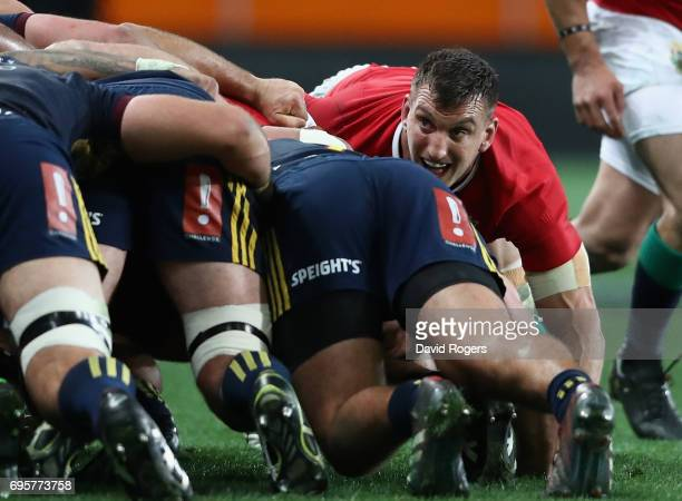 Sam Warburton of the Lions looks on during the 2017 British Irish Lions tour match between the Highlanders and the British Irish Lions at Forsyth...