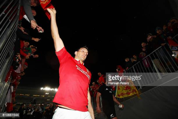 Sam Warburton of the Lions walks off after drawing the Test match between the New Zealand All Blacks and the British Irish Lions at Eden Park on July...
