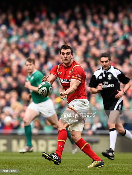 Sam Warburton of Wales in action during the RBS Six Nations match between Ireland and Wales at the Aviva Stadium at Aviva Stadium on February 7 2016...