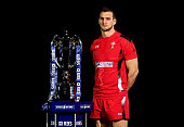 Sam Warburton of Wales poses with the trophy during the launch of the 2015 RBS Six Nations at the Hurlingham club on January 28 2015 in London England
