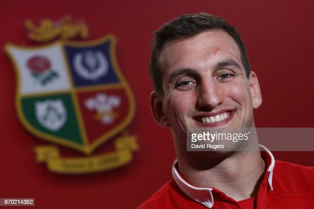 Sam Warburton poses during the British and Irish Lions tour squad announcement at the Hilton London Syon Park Hotel on April 19 2017 in London England