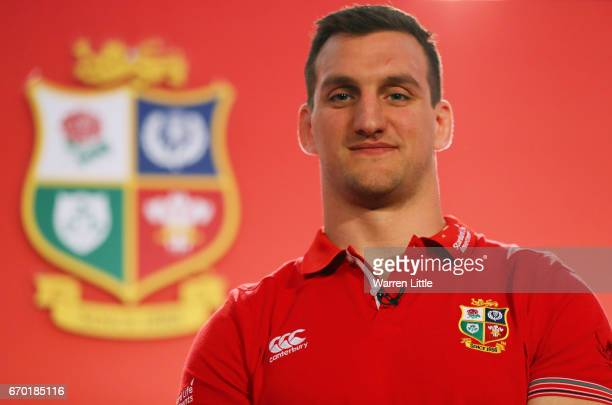 Sam Warburton poses for the cameras during the British and Irish Lions tour squad announcement at the Hilton London Syon Park Hotel on April 19 2017...