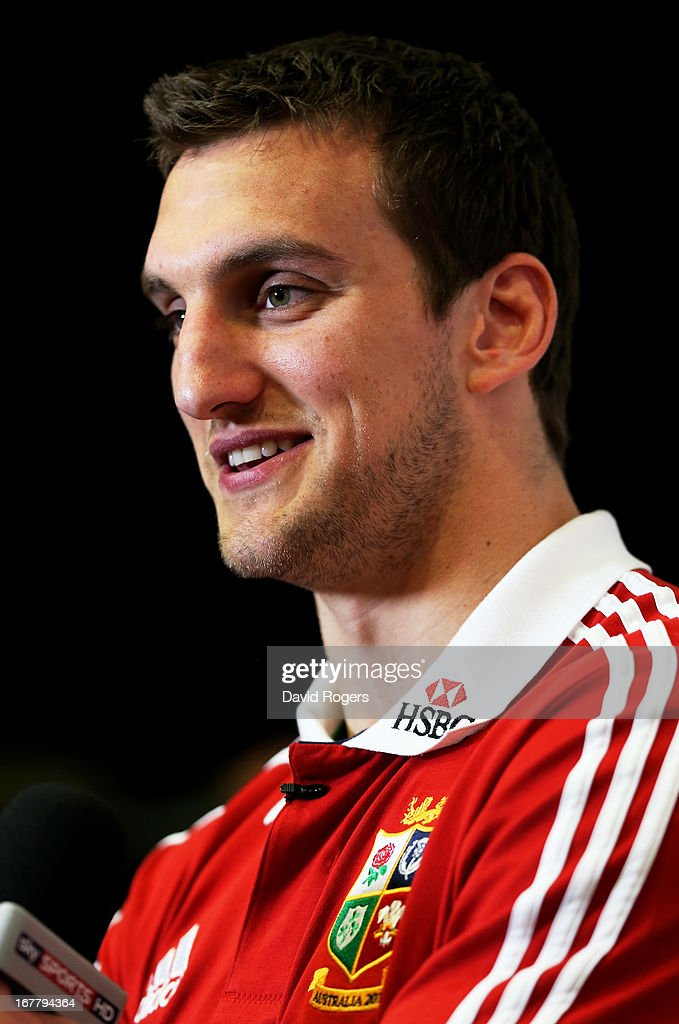 <a gi-track='captionPersonalityLinkClicked' href=/galleries/search?phrase=Sam+Warburton+-+Rugby+Player&family=editorial&specificpeople=4234449 ng-click='$event.stopPropagation()'>Sam Warburton</a> The British and Irish Lions Captain is interviewed following the 2013 British and Irish Lions tour squad and captain announcement at London Syon Park Hotel on April 30, 2013 in London, England.
