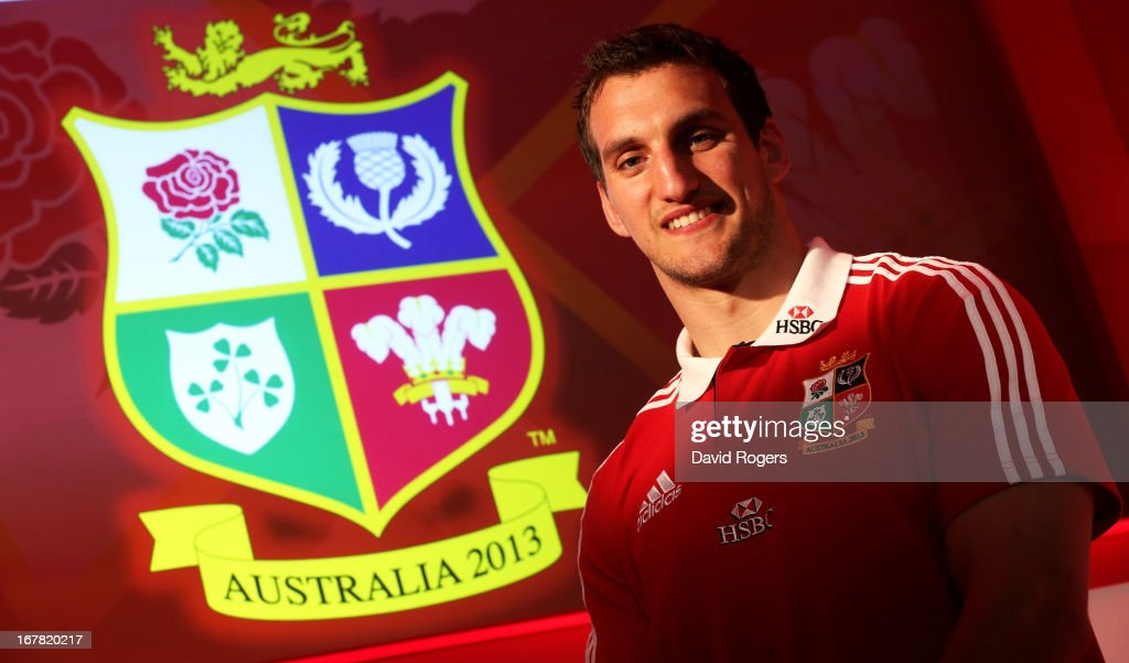 <a gi-track='captionPersonalityLinkClicked' href=/galleries/search?phrase=Sam+Warburton+-+Rugby+Player&family=editorial&specificpeople=4234449 ng-click='$event.stopPropagation()'>Sam Warburton</a> The British and Irish Lions Captain poses for the cameras during the 2013 British and Irish Lions tour squad and captain announcement at London Syon Park Hotel on April 30, 2013 in London, England.