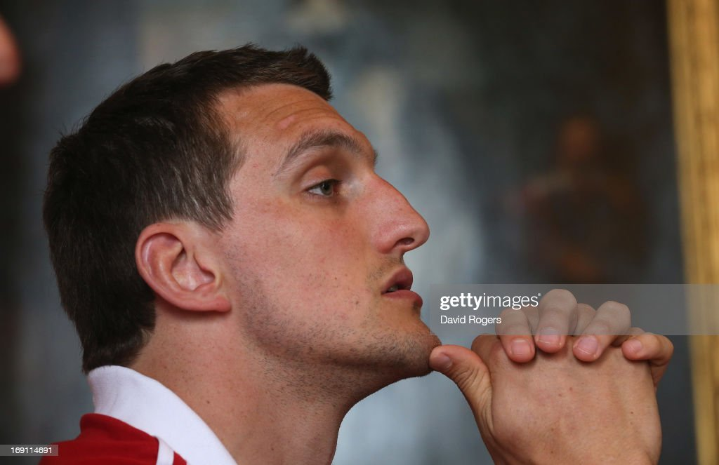 <a gi-track='captionPersonalityLinkClicked' href=/galleries/search?phrase=Sam+Warburton+-+Rugby+Player&family=editorial&specificpeople=4234449 ng-click='$event.stopPropagation()'>Sam Warburton</a>, the Lions captain, faces the media during the British and Irish Lions media session held at Carton House on May 20, 2013 in Maynooth, Ireland.