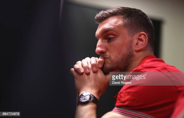 Sam Warburton the Lions captain faces the media during the British Irish Lions media session at the Southern Cross Hotel on June 11 2017 in Dunedin...