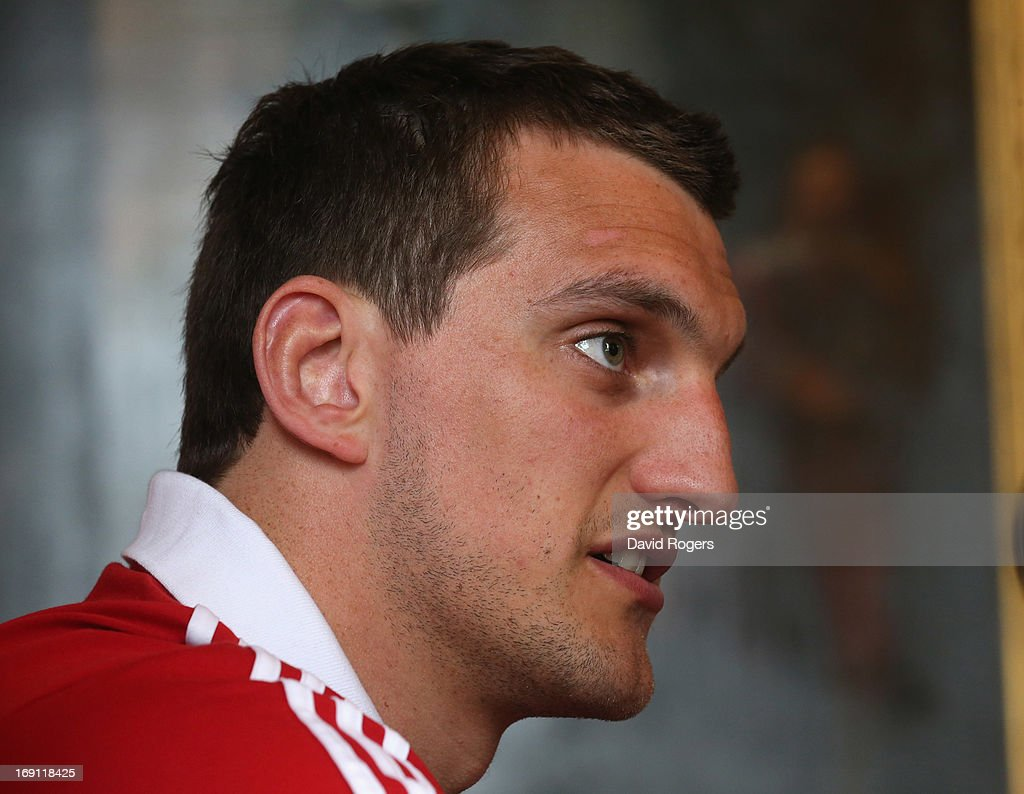 <a gi-track='captionPersonalityLinkClicked' href=/galleries/search?phrase=Sam+Warburton+-+Rugby+Player&family=editorial&specificpeople=4234449 ng-click='$event.stopPropagation()'>Sam Warburton</a>, the Lions captain, looks on during the British and Irish Lions media session held at Carton House on May 20, 2013 in Maynooth, Ireland.