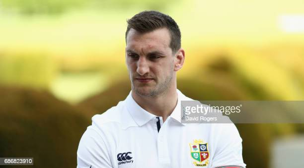 Sam Warburton the Lions captain looks on during the British and Irish Lions media session held at Carton House Golf Club on May 22 2017 in Maynooth...
