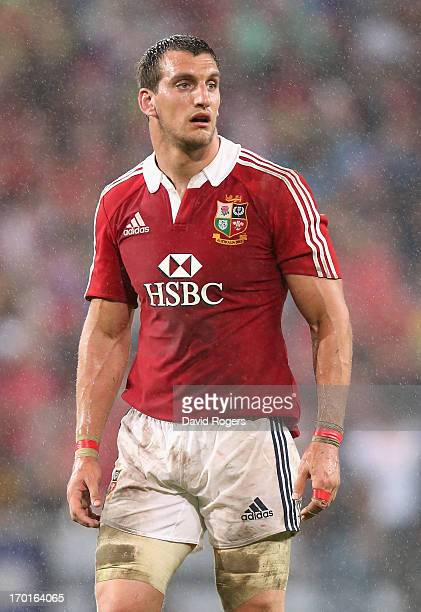Sam Warburton the Lions captain looks on during the match between the Queensland Reds and the British Irish Lions at Suncorp Stadium on June 8 2013...
