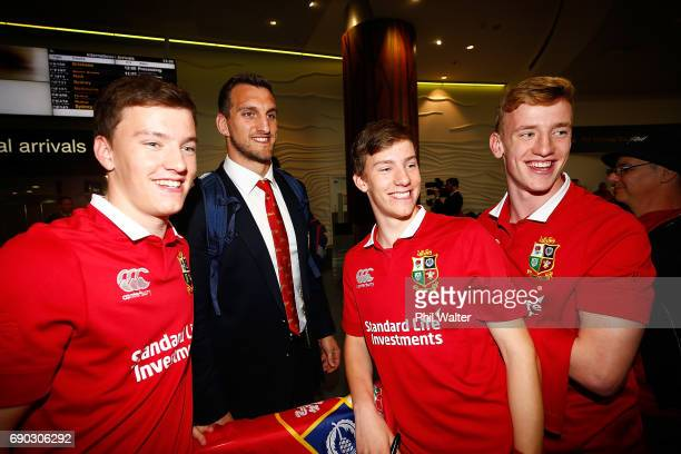 Sam Warbuton of the British Irish Lions arrives at Auckland International Airport on May 31 2017 in Auckland New Zealand