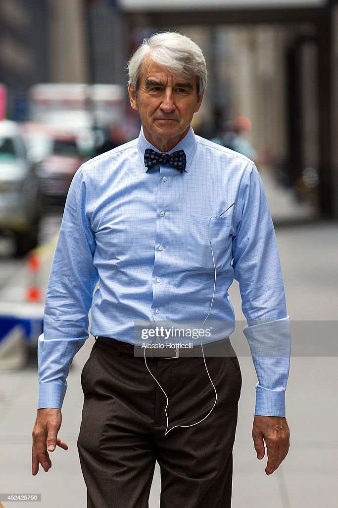 <a gi-track='captionPersonalityLinkClicked' href=/galleries/search?phrase=Sam+Waterston&family=editorial&specificpeople=212718 ng-click='$event.stopPropagation()'>Sam Waterston</a> is seen on location in Times Square for 'The Newsroom' on July 19, 2014 in New York City.