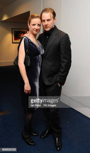 Sam West and Laura Wade attend a prelunch reception for the Evening Standard Theatre Awards at the Royal Opera House in Covent Garden London
