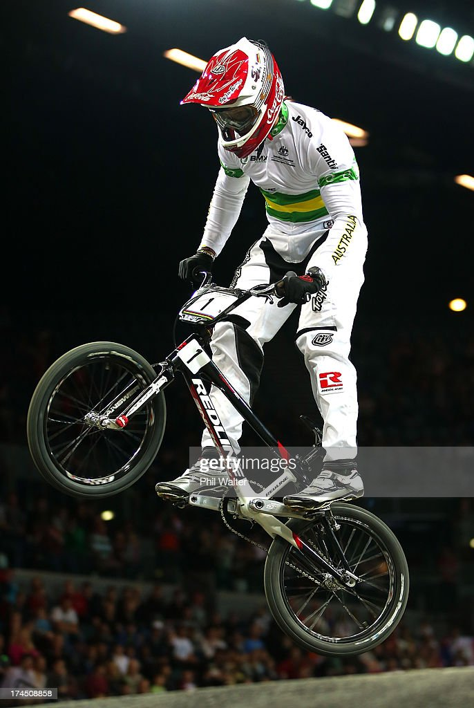 Sam Willoughby of Australia competes in the Elite Mens time trial during day four of the UCI BMX World Championships at Vector Arena on July 27, 2013 in Auckland, New Zealand.