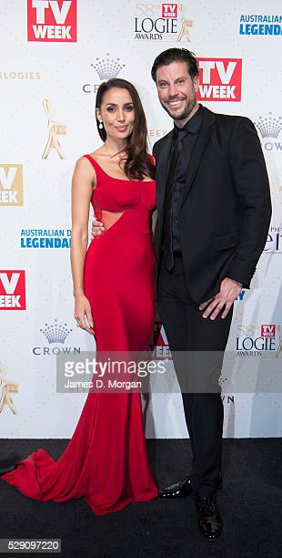 Sam Wood and partner Snezana Markoski arrives at the 58th Annual Logie Awards at Crown Palladium on May 8 2016 in Melbourne Australia