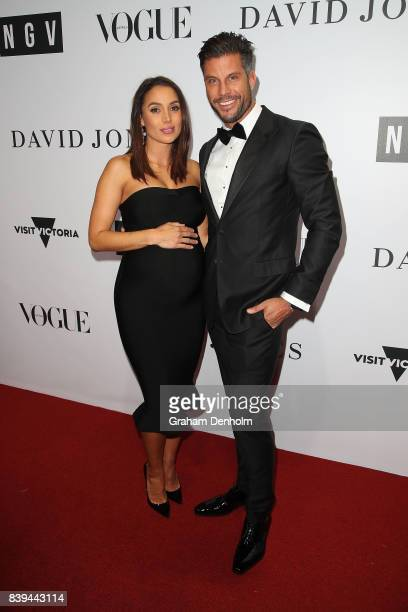 Sam Wood and Snezana Markoski arrive ahead of the NGV Gala at NGV International on August 26 2017 in Melbourne Australia