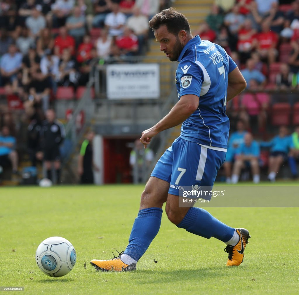 Sam Wood of Eastleigh during the National League match between Leyton Orient and Eastleigh at The Matchroom Stadium on August 26, 2017 in London, United Kingdom.
