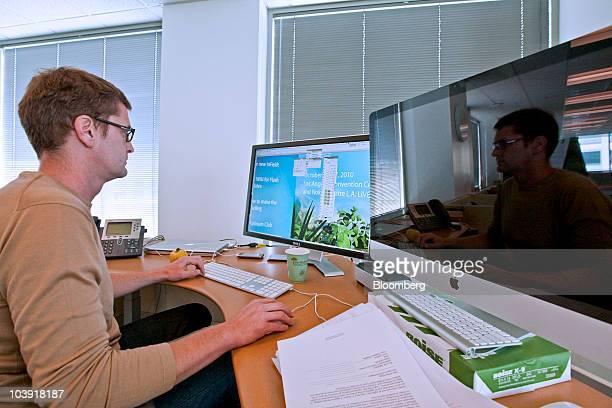 Sam Woodman a software engineer for Adobe Systems Inc works at the company's headquarters building in San Jose California US on Tuesday Sept 7 2010...