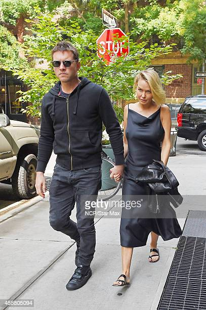 Sam Worthington and Lara Bingle are seen on September 20 2014 in New York City