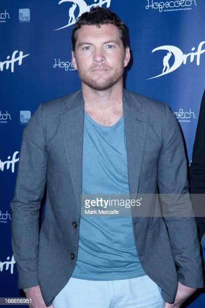 Sam Worthington arrives for a 'Drift' Photo Call at Event Cinemas Bondi Junction on April 15 2013 in Sydney Australia