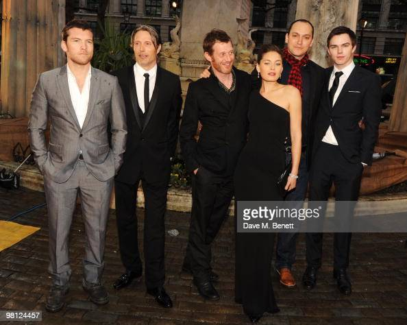 Sam Worthington Mads Mikkelsen Jason Flemyng Alexa Davalos Louis Letterier and Nicholas Hoult arrives at the World premiere of 'Clash Of The Titans'...