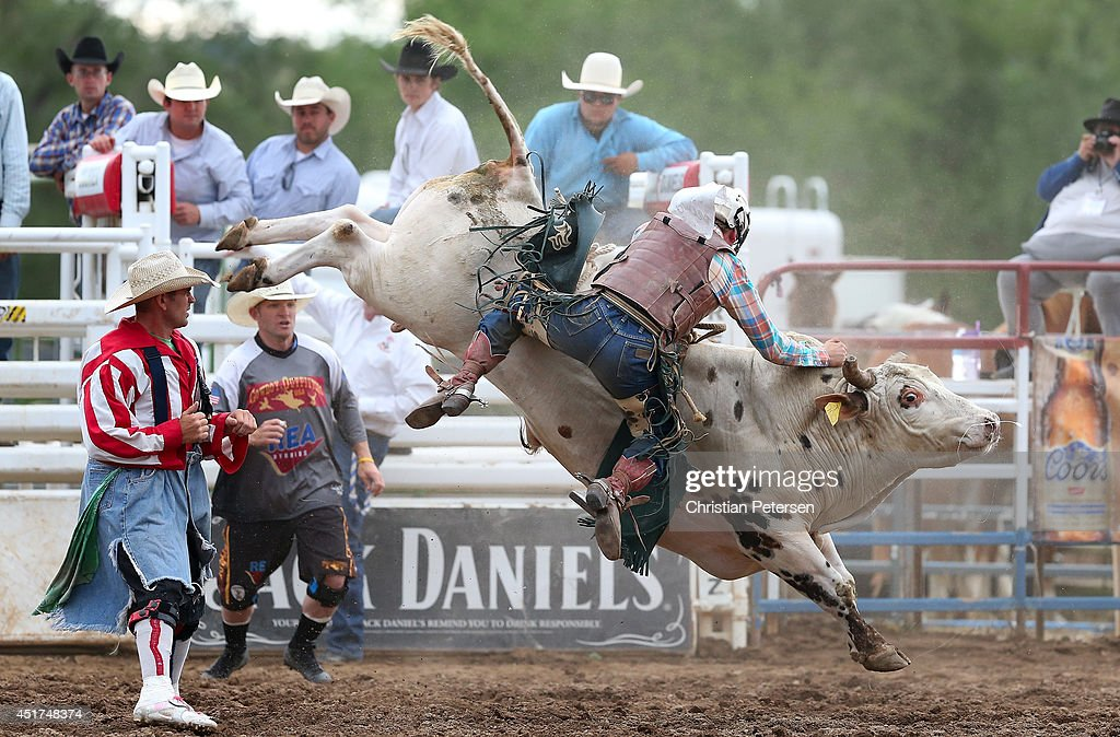 Sam Wyatt competes in the Bull Riding at the Prescott Frontier Days 'World's Oldest Rodeo' on July 5, 2014 in Prescott, Arizona.