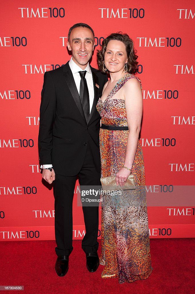 Sam Yagan (L) and guest attend the 2013 Time 100 Gala at Frederick P. Rose Hall, Jazz at Lincoln Center on April 23, 2013 in New York City.