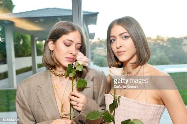 Sama Khadra and Haya Khadra celebrate The Launch Of KKW Beauty on June 20 2017 in Los Angeles California
