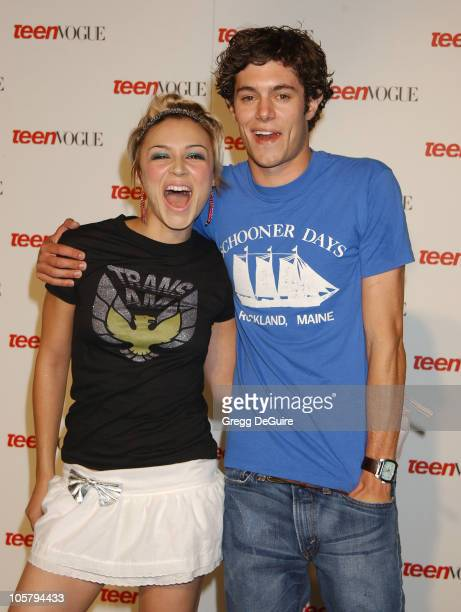Samaire Armstrong Adam Brody of 'The OC' during Teen Vogue Celebrates Its First Annual Young Hollywood Issue at Private Residence in Beverly Hills...