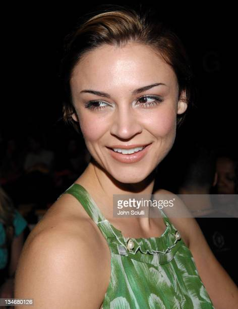 Samaire Armstrong during MercedesBenz Spring 2007 LA Fashion Week at Smashbox Studios Ashley Paige Backstage and Front Row at Smashbox Studios in...