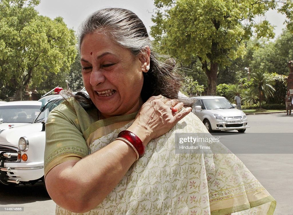 Samajwad Party MP <a gi-track='captionPersonalityLinkClicked' href=/galleries/search?phrase=Jaya+Bachchan&family=editorial&specificpeople=1026829 ng-click='$event.stopPropagation()'>Jaya Bachchan</a> during the Budget Session at Parliament house on May 21, 2012 in New Delhi, India. Government tabled the Lokpal bill in Rajya Sabha which was then sent to select committee of Rajya Sabha. Government also tabled much awaited white paper on Black money.