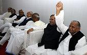 Samajwadi Janata Party Chief Kamal Morarka JD leader Nitish Kumar RJD Chief Lalu Prasad Yadav JD chief HD Deve Gowda JD Chief Sharad Yadav Samajwadi...