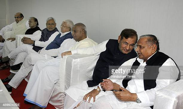 Samajwadi Janata Party Chief Kamal Morarka JD leader Nitish Kumar RJD Chief Lalu Prasad Yadav JD chief HD Deve Gowda JD Chief Sharad Yadav Samajwadi...