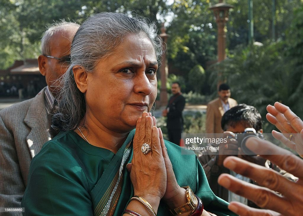 Samajwadi Party MP Jaya Bachchan during the winter session of Parliament at Parliament House on December 19, 2012 in New Delhi, India.