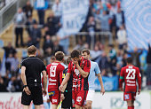 Saman Ghoddos of Ostersunds FK dejected after the Allsvenskan match between Ostersunds FK and Malmo FF at Jamtkraft Arena on May 28 2016 in Ostersund...