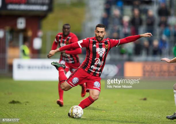 Saman Ghoddos of Ostersunds FK during the Allsvenskan match between Jonkopings Sodra IF and Ostersunds FK at Stadsparksvallen on November 5 2017 in...