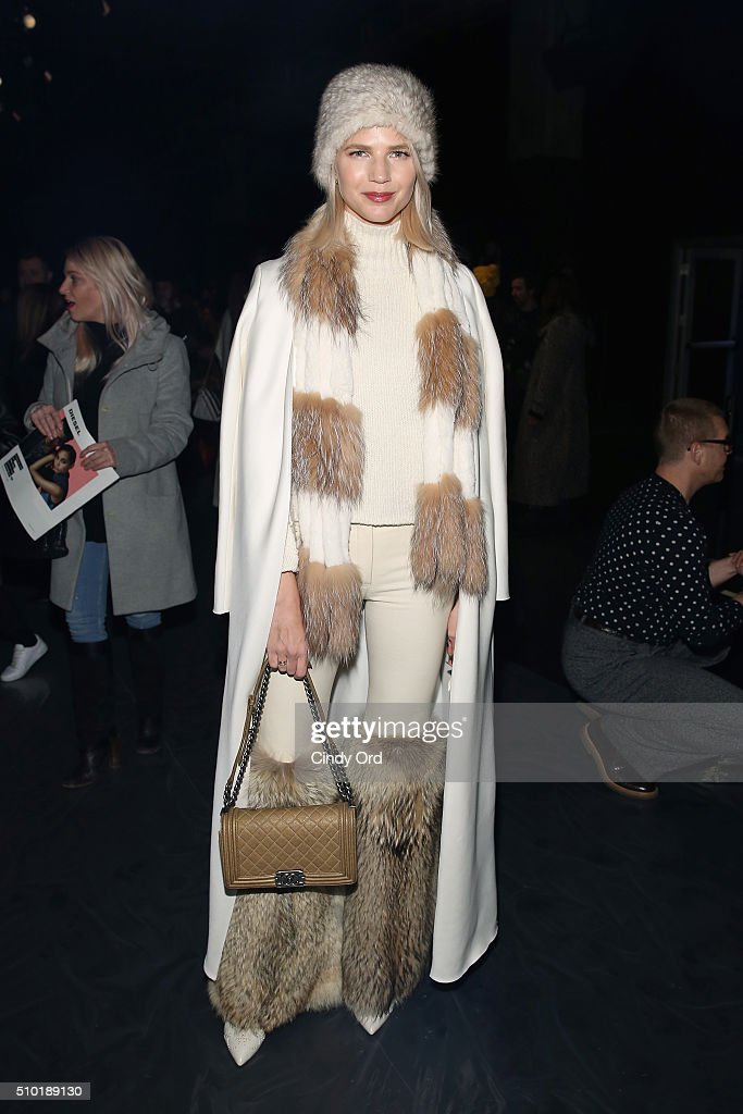Samantha Angelo attends the Tome Fall 2016 fashion show during New York Fashion Week: The Shows at The Dock, Skylight at Moynihan Station on February 14, 2016 in New York City.