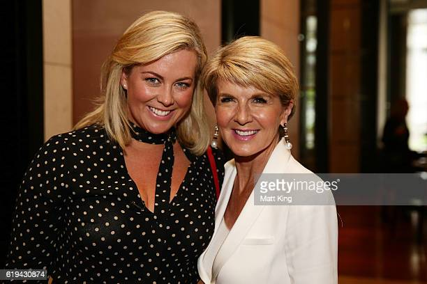 Samantha Armytage and Julie Bishop attend the launch of Carolyn Hartz's new cookbook 'Sugar Free Baking' at Grand Hyatt Melbourne on October 31 2016...