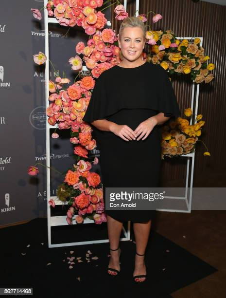 Samantha Armytage arrives ahead of BAZAAR in Bloom at The Ivy on October 18 2017 in Sydney Australia