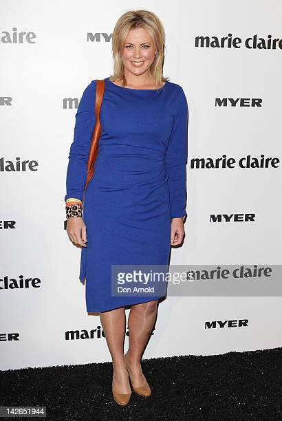 Samantha Armytage arrives at the 2012 Prix De Marie Claire Beauty Awards at the Museum of Contemporary Art on April 11 2012 in Sydney Australia