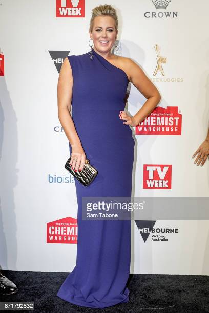 Samantha Armytage arrives at the 59th Annual Logie Awards at Crown Palladium on April 23 2017 in Melbourne Australia