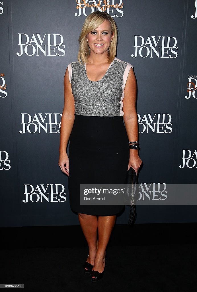 Samantha Armytage arrives for the David Jones A/W 2013 Season Launch at David Jones Castlereagh Street on February 6, 2013 in Sydney, Australia.