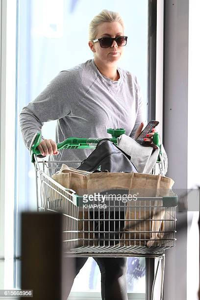 Samantha Armytage is seen shopping on September 19 2016 in Sydney Australia