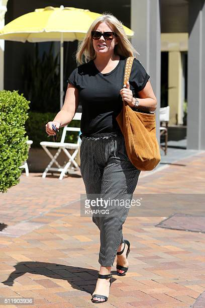 Samantha Armytage is spotted having lunch with Jessica Rowe in Double Bay on February 17 2016 in Sydney Australia